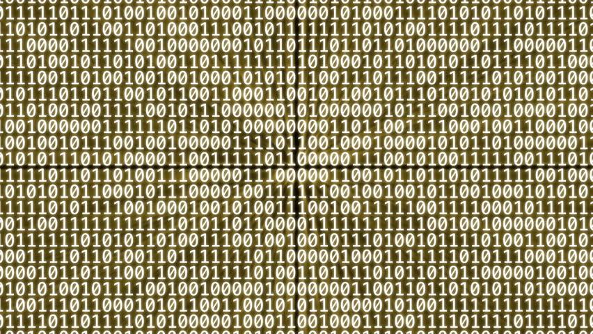 Loopable: Binary digits. Flying through glowing binary walls. (av1313c)   Shutterstock HD Video #12653210