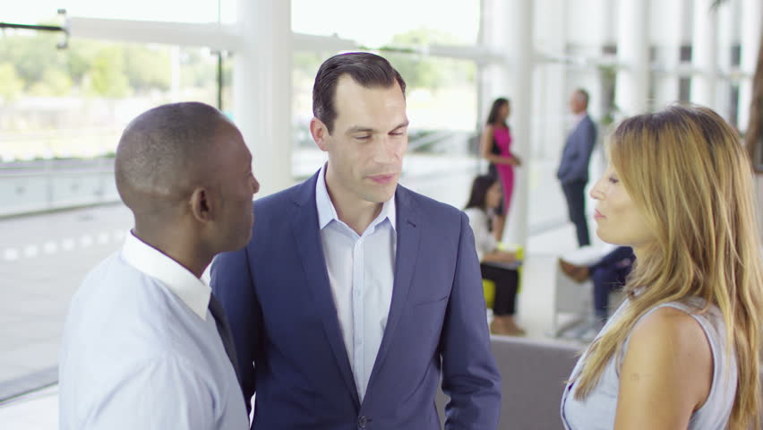4K Portrait of confident smiling business team in modern office building. Shot on RED Epic. | Shutterstock HD Video #12674360