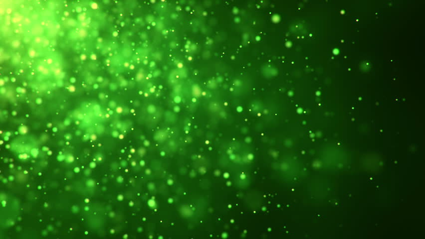 Sparkly Gold And Silver Light Particles Moving Across A