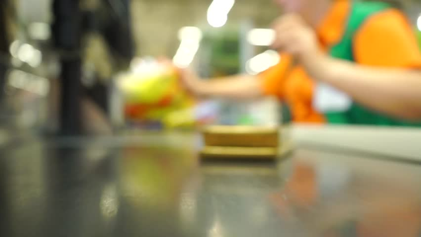 Supermarket checkout video | Shutterstock HD Video #12700940
