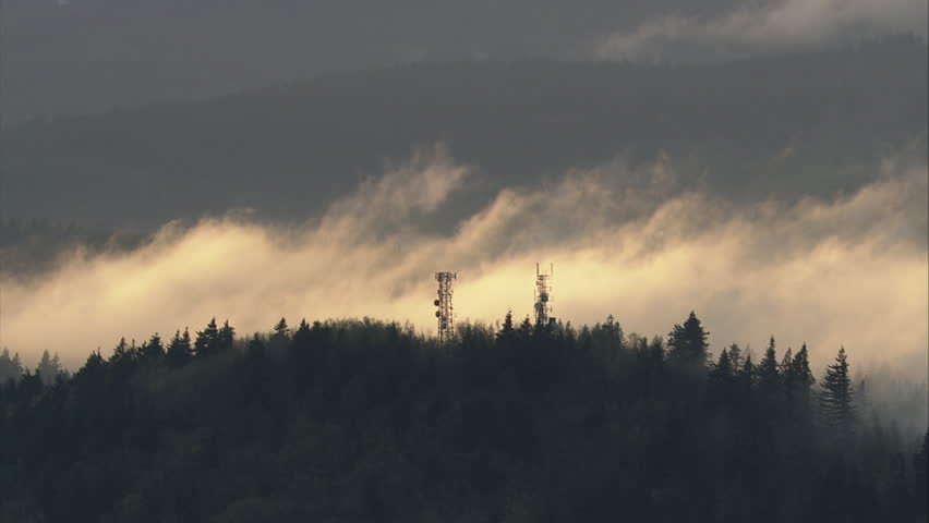 WS AERIAL PAN Mountains in clouds | Shutterstock HD Video #12703880