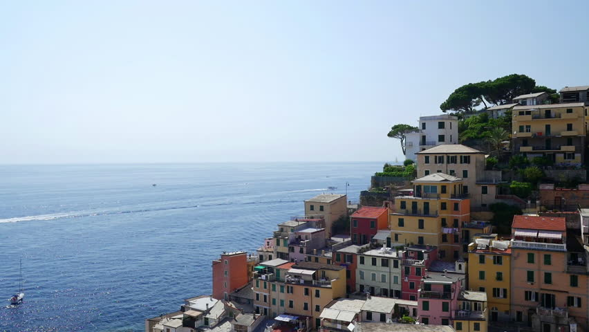 Picturesque view of Riomaggiore city, Cinque Terre, Liguria, Italy.