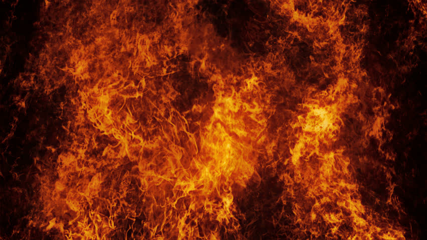 Inferno fire wall in slow motion with seamless loop isolated | Shutterstock HD Video #12835802