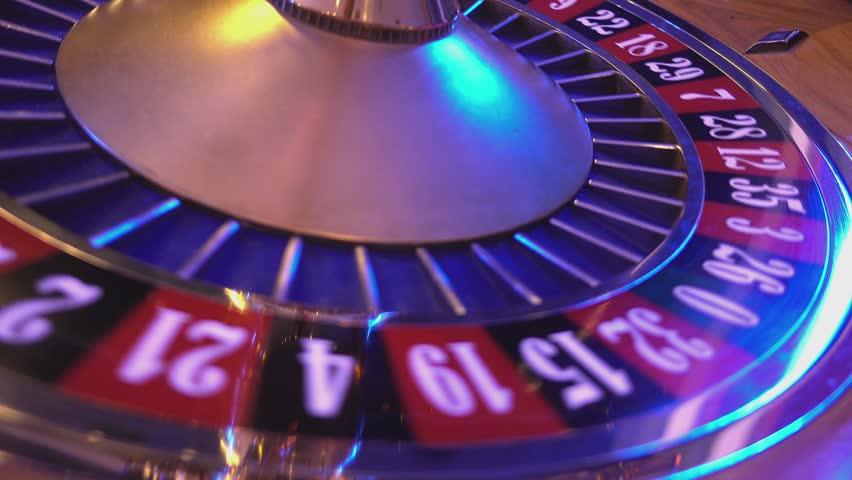 Roulette Wheel in a casino - ball on 36 red   Shutterstock HD Video #12838160