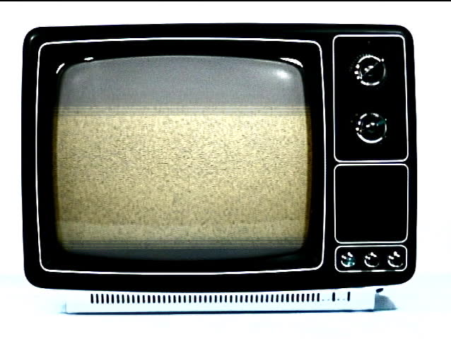Static sound and reception of a retro television | Shutterstock HD Video #128500