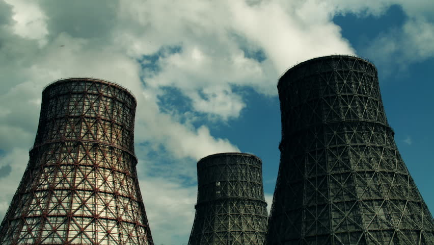 coal-burning power plant - two shots