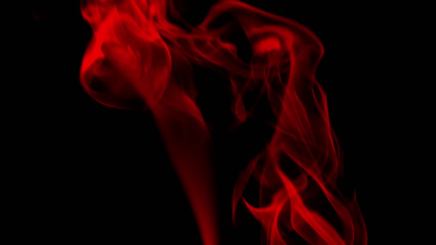 red swirling smoke against black background stock footage