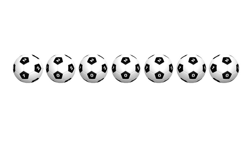 Rotating Soccer Balls With Sports Betting Numbers Still Camera | Shutterstock HD Video #12883820