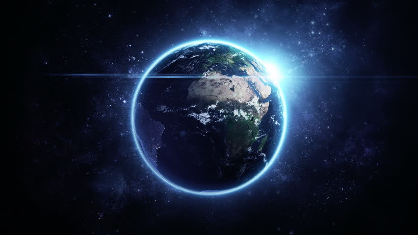Animation Rotation of Glowing Globe Stock Footage Video