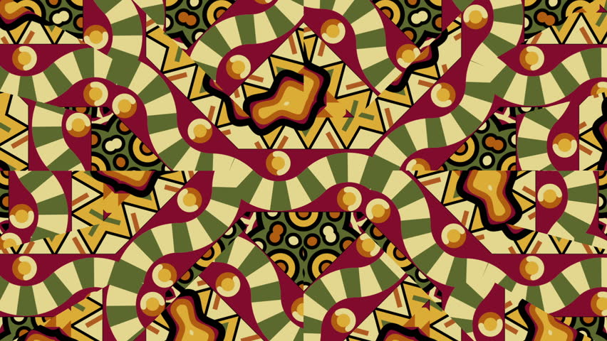 921ae721780fb2 Seamless moving tribal ethnic pattern of geometric shapes and zig-zag  snakes forms in kaleidoscope for music video background, broadcast, photo  slideshows, ...