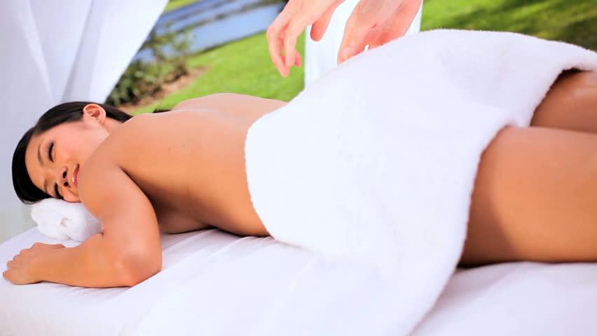 Asian girl on girl oil massage — img 4