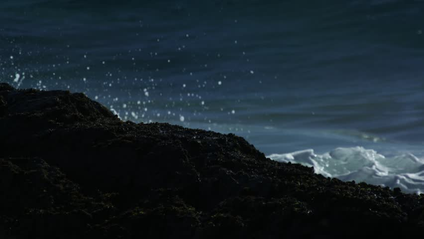 Slow Motion Waves Crashing Over The Rocks | Shutterstock HD Video #13076300