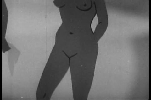 CIRCA 1940s - Detail of a woman's reproductive system in a 1949 sex education film.