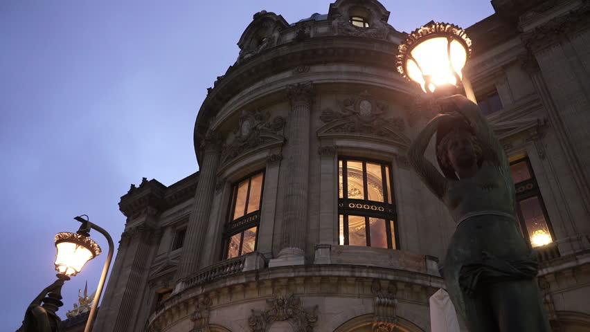 Paris Opera in the evening | Shutterstock HD Video #13118843