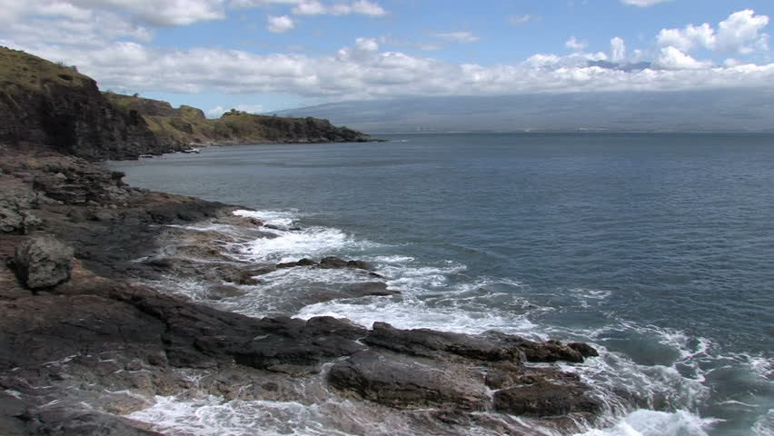 b9a4cde8bf Rocky Desolate Shoreline On the Stock Footage Video (100% Royalty ...