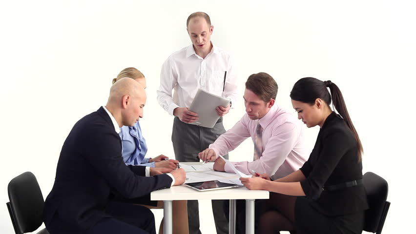 Businessman Giving materials with new challenges/Setting new Business Challenges | Shutterstock HD Video #13135070