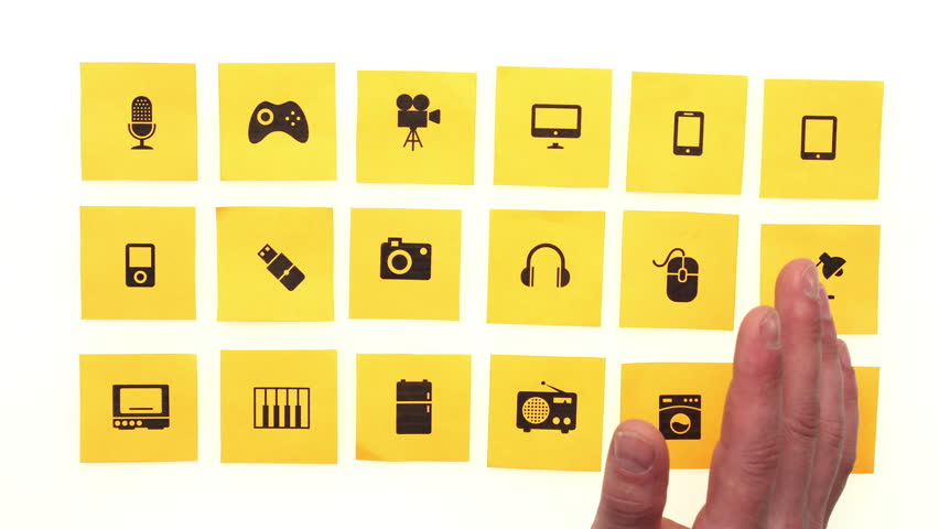 Choosing a product on tablet in online store. Artistic paper cut out online shopping concept. Stop motion animation.