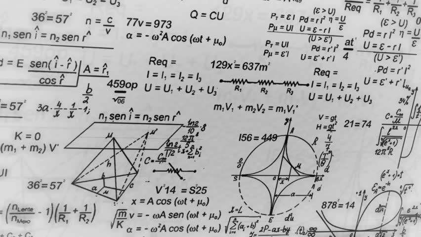 Math Symbols Moving In Parallax
