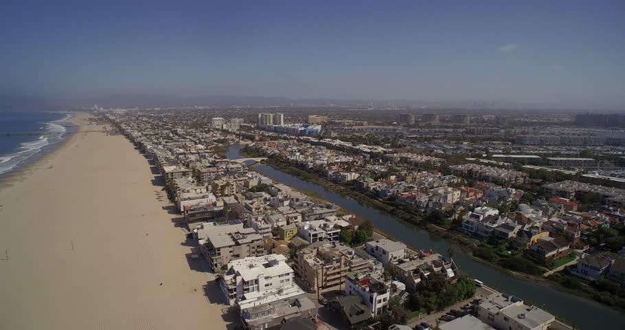 Aerial View Of Venice Beach And Marina Del Rey Santa Monica Los Angeles California Usa Stock Footage Video 13197110 Shutterstock
