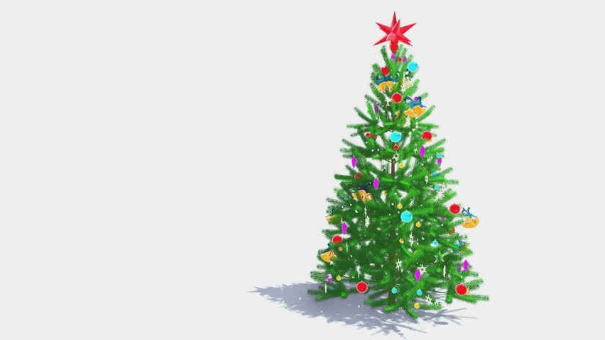 Decorated Christmas Tree With Red Stock Footage Video 100