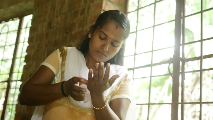 Indian Girl Making Handmade Clay Jewellery    Shutterstock HD Video #13226027