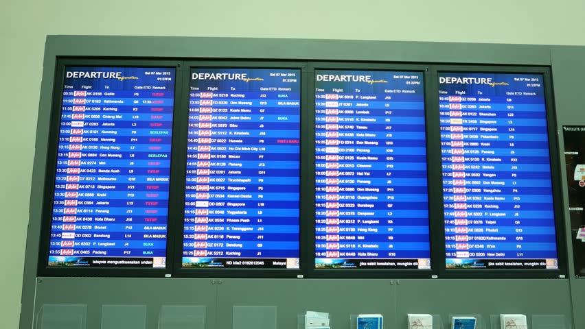 Kuala Lumpur Malaysia April 2016 Departures Timetable