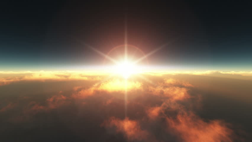 Flying above the clouds sunrise | Shutterstock HD Video #13283744