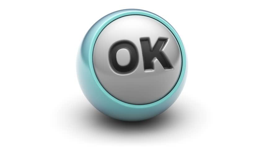 """Ok"" on a ball. Looping. | Shutterstock HD Video #13332590"