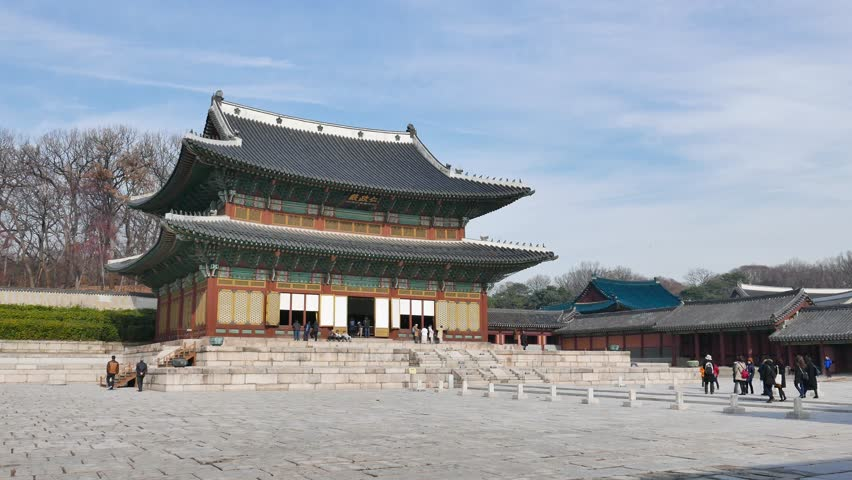 Gyeonghoeru Pavilion Korean Traditional Architecture In The