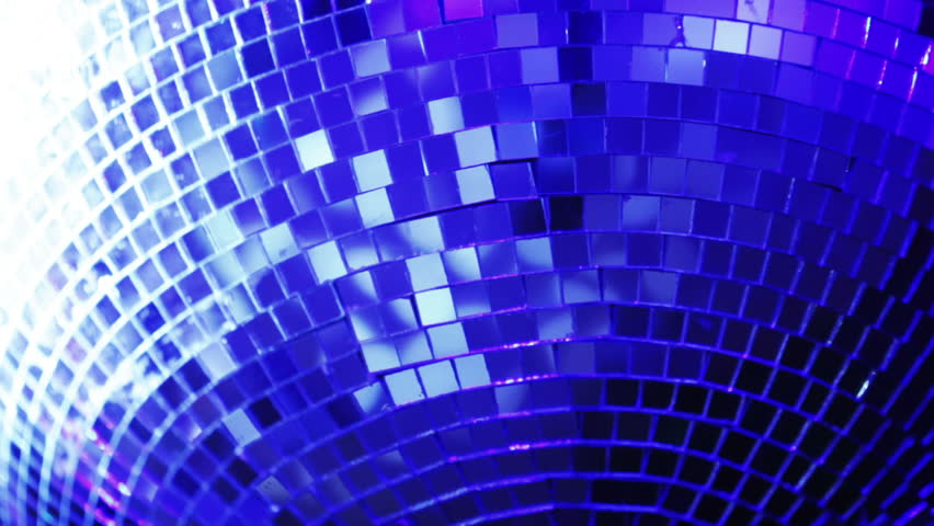 Rotating mirror disco ball in restaurant