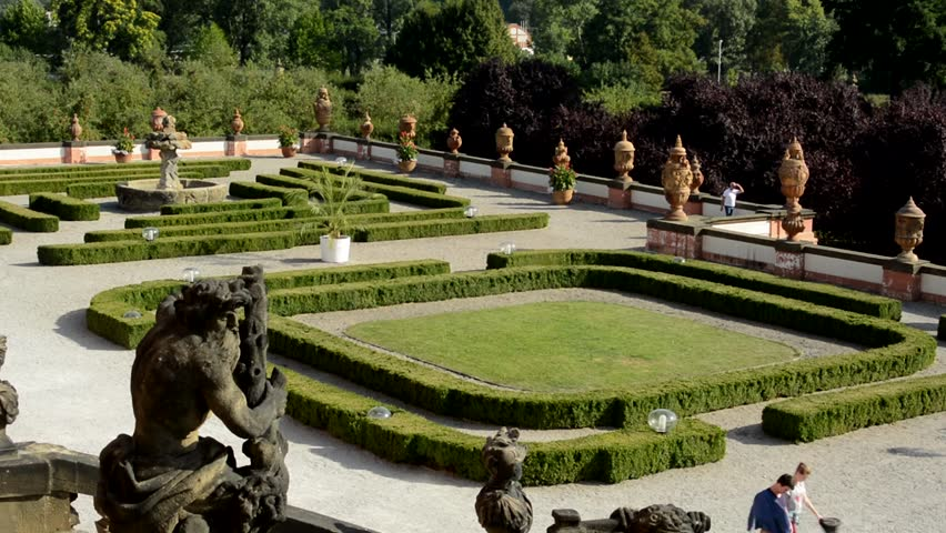 czech republic prague september 13 2015 view of large historical garden before - Large Garden 2015