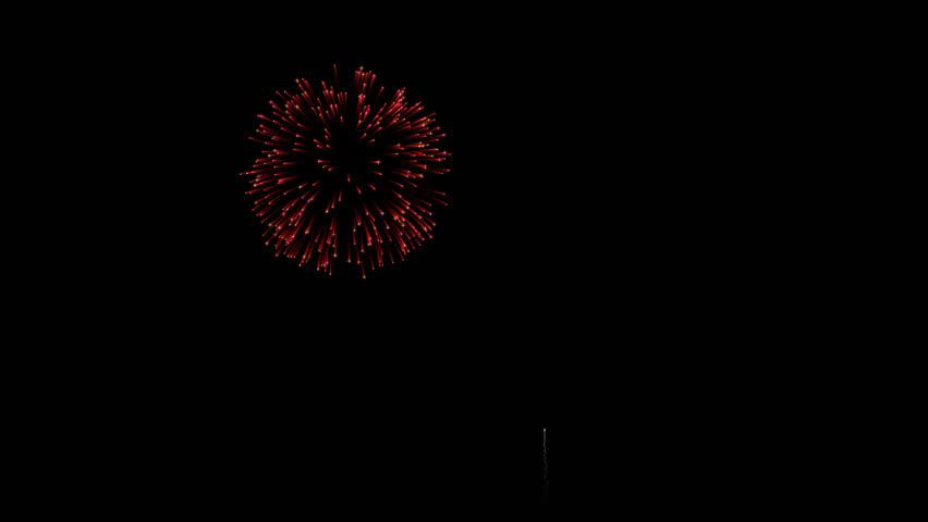 Colorful animated fireworks bursting in air, against a black background. Alpha channel included for easy background replacement. | Shutterstock HD Video #13429820