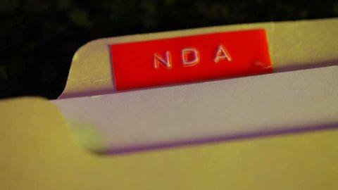 NDA non disclosure agreement concept