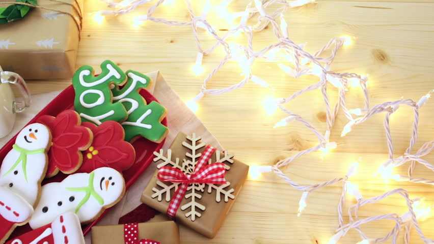 Home Made Christmas Cookies Decorated Stock Footage Video 100 Royalty Free 13498280 Shutterstock
