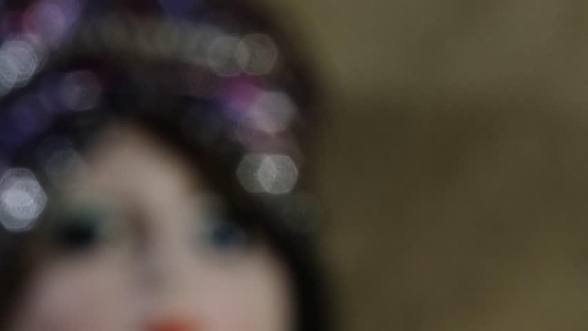 4K Scary Venetian Doll 4K 3840x2160 ultra high definition | Shutterstock HD Video #13510586