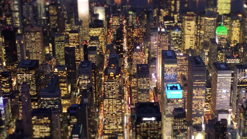 New york city skyline at night aerial view. urban metropolis background. financial business district | Shutterstock HD Video #13559063