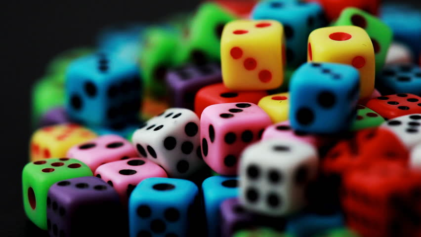 Many Colorful Dice Stacked In Stock Footage Video 100 Royalty Free 1363960 Shutterstock