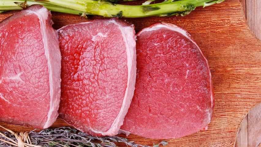 Meat Food : Raw Beef Stock Footage Video (100% Royalty-free) 13686410 |  Shutterstock