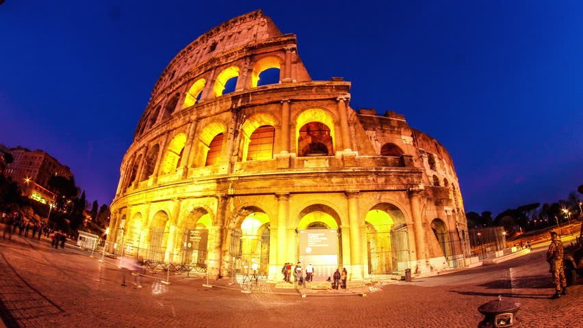 Famous Italian Architecture travel tourist woman in italycolosseum, rome. young woman
