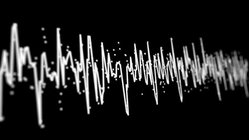 Loopable video 1920x1080 - Acoustic waves on the screen of high-technology device close-up
