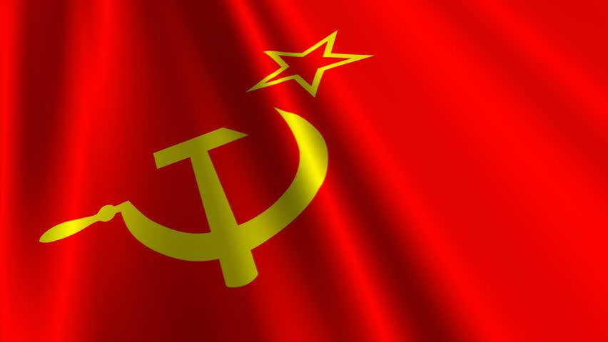 waving soviet union flag stock footage video 17079817