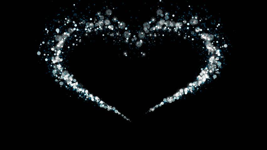 Heart Alpha Channel Flow Particles Snow