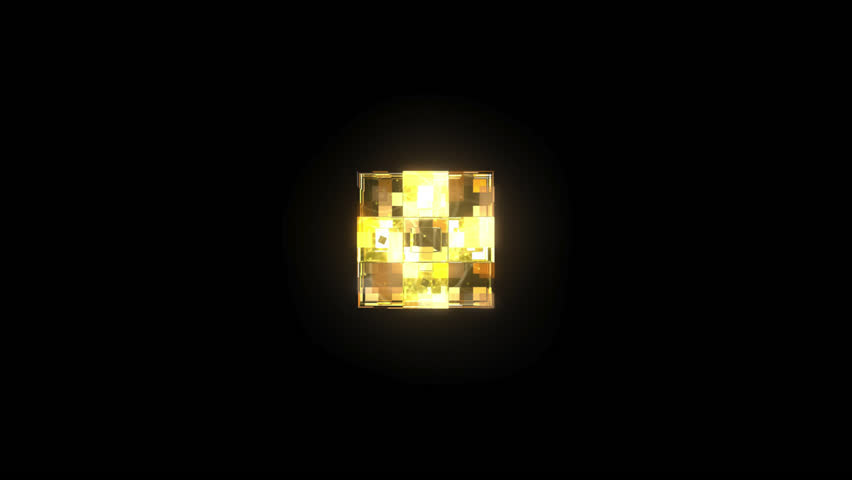 3D Glass Cubes - In Full Spin - 3D animation motion graphics of loopable 10 second video of a glass cube made up of smaller cubes. Includes animated textures. Made for DJ and VJ loops or backgrounds