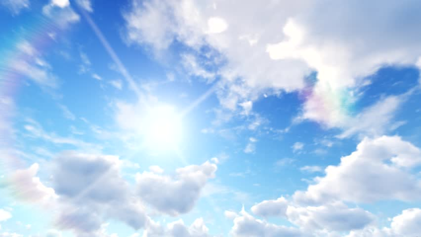 Clouds And Sun, Blue Sky Stock Footage Video 1107211