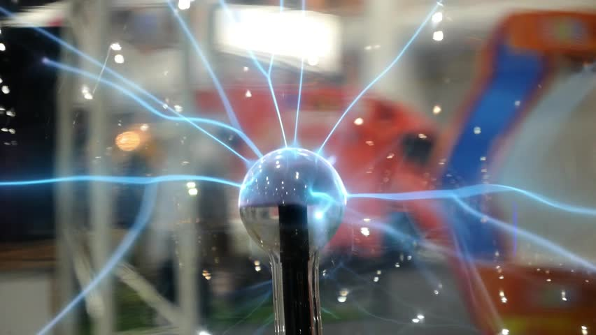 Plasma Ball or Lamp. Closeup.