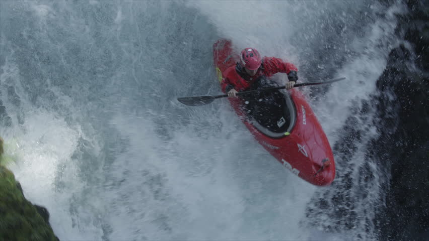 WS TD Man kayaking through extreme rapids | Shutterstock HD Video #13801580