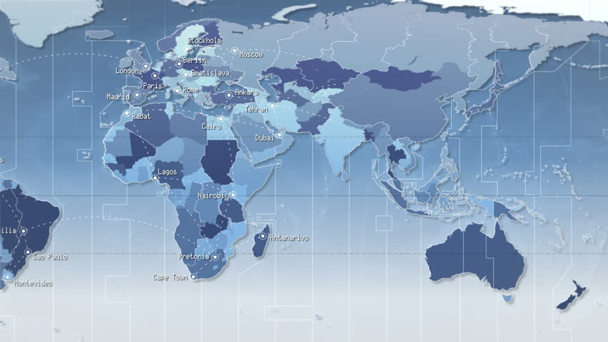 3d animation of world map formed by names of major cities in the world map with connections and cities loopable cyan more color options in my gumiabroncs Choice Image