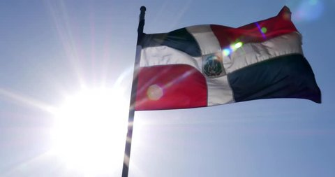 Dominican waving flag