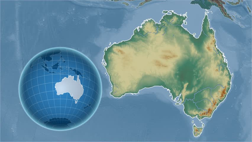 Australia Map Video.Australia Shape Animated On The Stock Footage Video 100 Royalty Free 13820780 Shutterstock