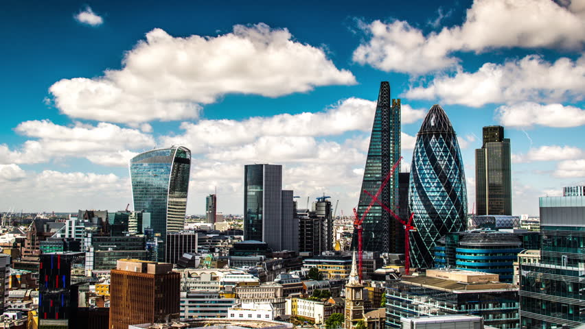 Timelapse view of amazing london skyline on a sunny day, shot from a unique high vantage point   Shutterstock HD Video #13842269